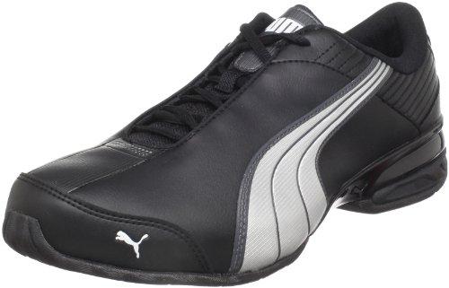 PUMA Men's Super Elevate Sneaker, Black/White/Dark Shadow, 8.5 M US