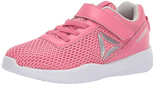 Reebok Flexagon Energy Cross Trainer, Pink/Silver/White, 3 M US