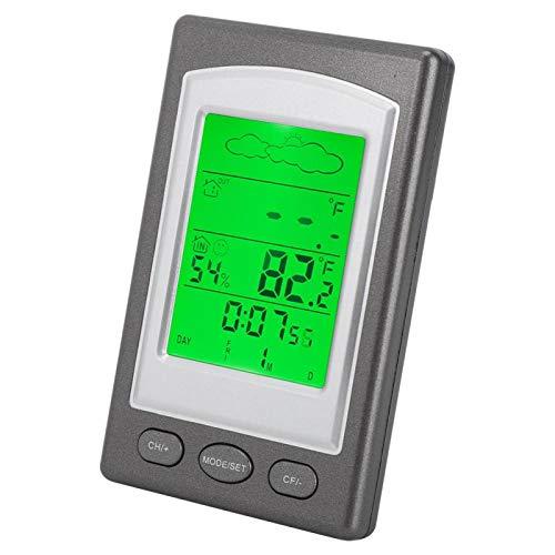 Cloudbox Termómetro electrónico LED para Interiores y Exteriores Termómetro electrónico Probador de Temperatura y Humedad con pronóstico del Tiempo