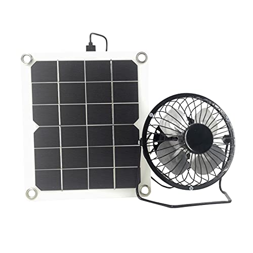 XIAOFANG Portable 1. 0W 5V. Outdoor Solar Abluftventilator Air Extractor Mini Solar Panel Powered Ventilator Lüfter für Hundehühner Pet Geflügelhaus (Color : A)