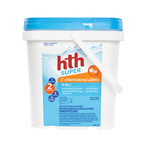 "Best chlorine tablets - hth Pool Sanitizer 3"" Chlorinating Tables 4-in-1 (42009)"