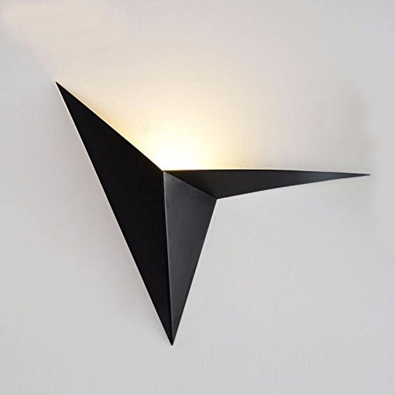 Modern LED Wandleuchte Kreatives Schmiedeeisen formte Dreieckwandlampe kreatives Schlafzimmernachtstudiehotelraumahornblattlampe Kaffeestube Vintage Retro Café Loft Bar Flurlampe, Wandlampe.