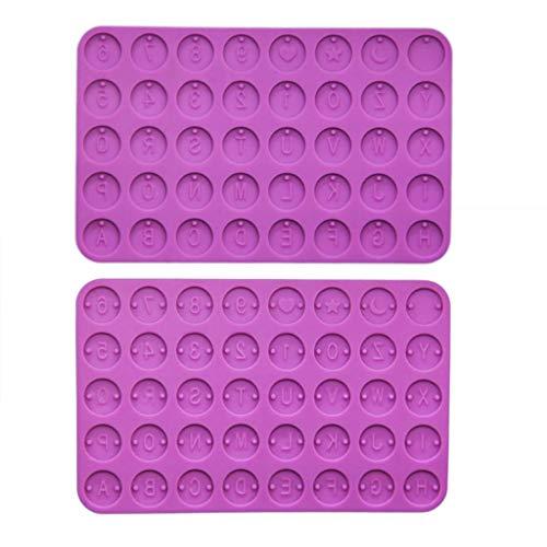 Qianqian56 - Molde de resina con letra inicial (2 unidades)
