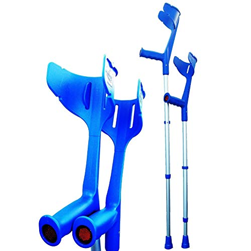 Invacare® 'Magic Twin' stabile, verstellbare Krücken (Blau)