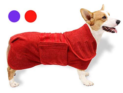 GZGZADMC Badetuch Hund Bademantel, Hundebademantel aus Mikrofaser, Badetuch Hund...