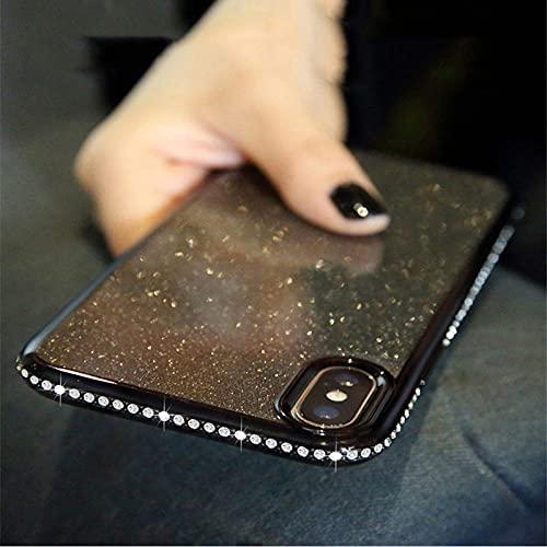 para Samsung Galaxy S10 S10E S9 S8 S7 Edge A8 A6 A7 Plus J7 2018 Note 8 9 A40 A50 A70 Estuche Transparente con Purpurina Brillante con Diamantes de imitación, BK, para Samsung S10 Plus