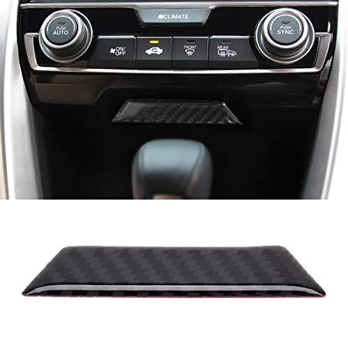 ZHANGYOUDEAU Kohlefaserzierblenden Zentralverriegelung Schaltpaneel Dekorativer Aufkleber for Honda Civic 10. Gen.