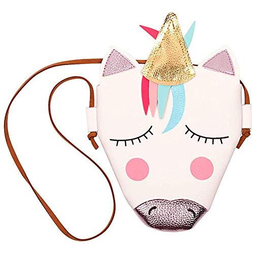 INTVN Einhorn Umhängetasche Handtasche Schultertasche des Mädchens Prägt Geldbeutel Nette Crossbody Tasche Für Baby PU
