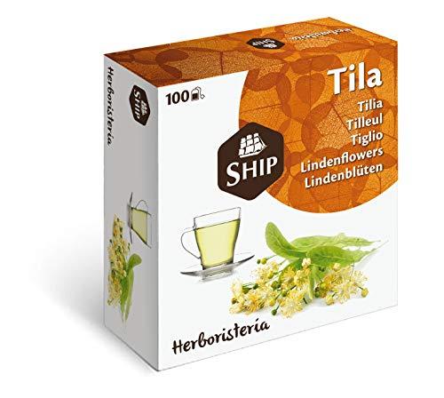 Ship - Infusión de Tila en Caja de 100 Unidades - Sin Funda - Favorece la Digestión, Alivia los Síntomas del Resfriado y Regula el Ciclo Hormonal - Efecto Calmante - Infusiones y Tes