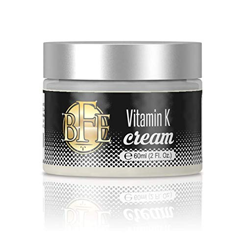 Vitamin K Cream- Moisturizing Bruise Healing Formula. Dark Spot Corrector for Bruising, Spider Veins & Broken Capillaries. Reduces Under Eye Dark Circles, Fine Lines, Puffiness, Wrinkles.
