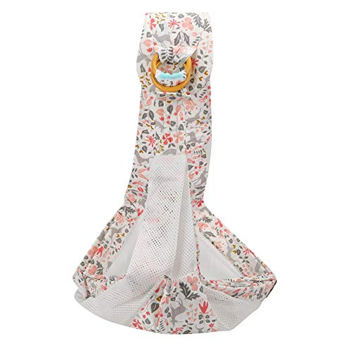YUYTE Imitation Uterus Design Breathable, Baby Ring Sling Baby Ring Sling for Accessories Pink Fawn (Breathable) + Seat Belt