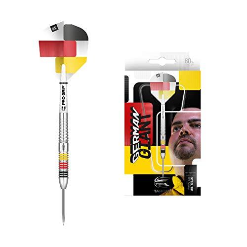 Target Darts Gabriel Clemens 80 80% Wolfram Steeldarts-Set (23 g), schwarz, gelb, rot und weiß