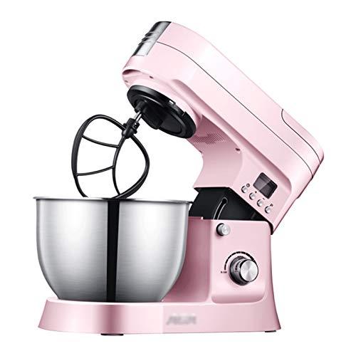 Procesador de Alimentos para el hogar Licuadora, batidora de Alimentos con Cabezal inclinable de 1000 W de 10 velocidades, Recipiente extraíble de Acero Inoxidable de 6 l (Color : Pink)
