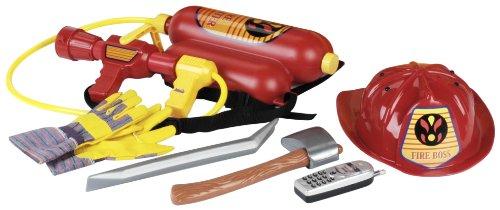 Klein - 8936 - Imitation - Pompiers - Set d'Accessoires avec Casque Rouge - Grand Modèle