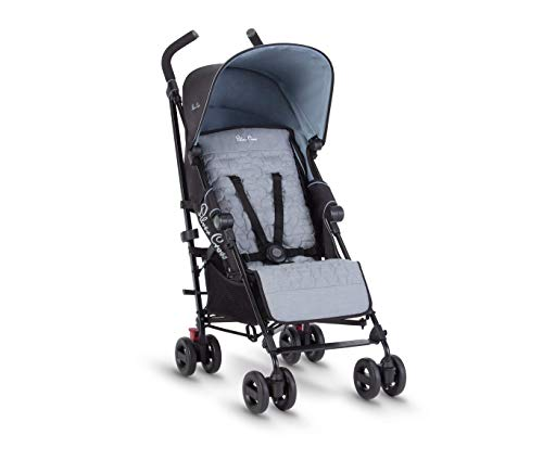 Silver Cross Zest Stroller, Compact and Lightweight Fully Reclining Baby To Toddler Pushchair – Powder Blue