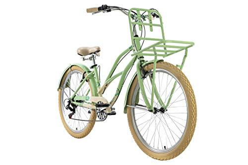 KS Cycling Beachcruiser 26'' Kahuna grün Frontgepäckträger RH41cm