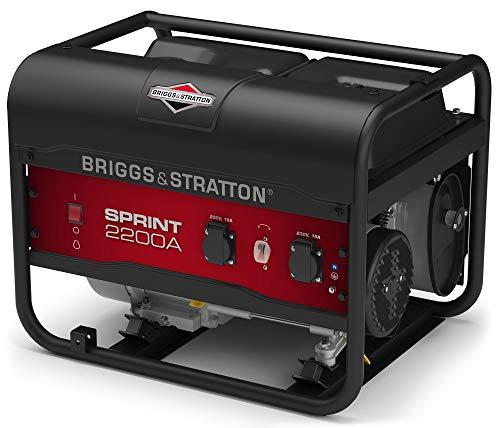 Briggs & Stratton SPRINT 2200A tragbarer Stromerzeuger, Generator, Benzin – 1700 W Betriebsleistung/2125 W Startleistung, 030671A