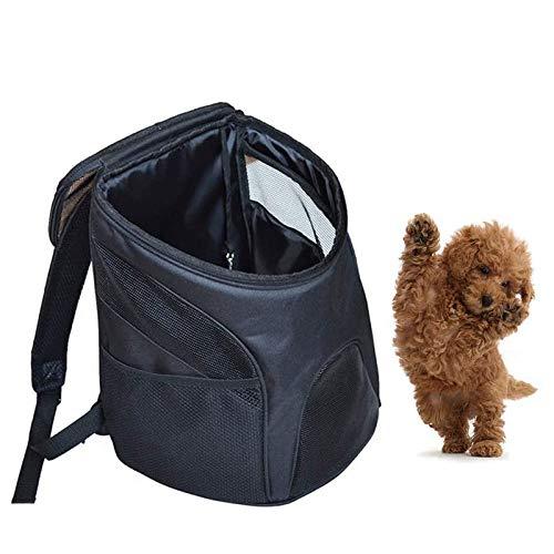 Transportador de perro sin marca, mochila para perros calientes, bolsa de hombro transpirable, portátil y plegable, trompeta