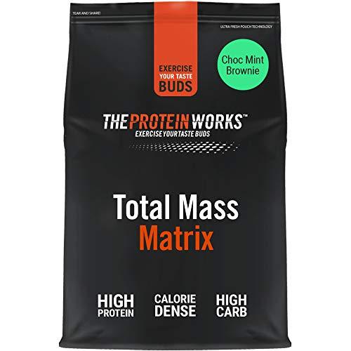 THE PROTEIN WORKS Total Mass Matrix | Mass Gainer | Calorie Dense Weight Gainer | Protein Powder | Choc Mint Brownie | 2 Kg