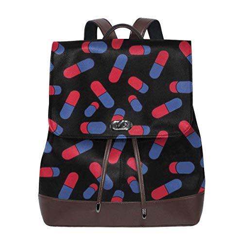 mochila de cuero para mujer Capsule Women Backpack Purse Waterproof Leather Anti-theft Schoolbag Lightweight Rucksack Travel bags