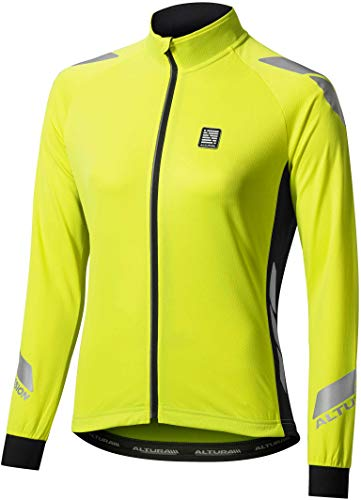 Altura Night Vision Commuter Womens Long Sleeve Cycling Jersey - Yellow-XL