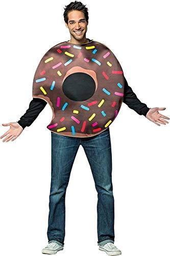 Disfraz de donut de chocolate mordido para adulto
