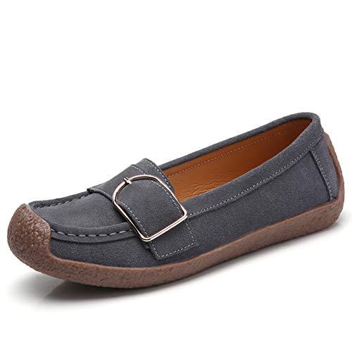 [Bornran] デッキシューズ レディーススリッポン ウォーキングシューズ ローファー モカシン ナースシューズ 安全靴 作業靴 超軽量 ランニングシューズ 通気性 スニーカー 大きいサイズ