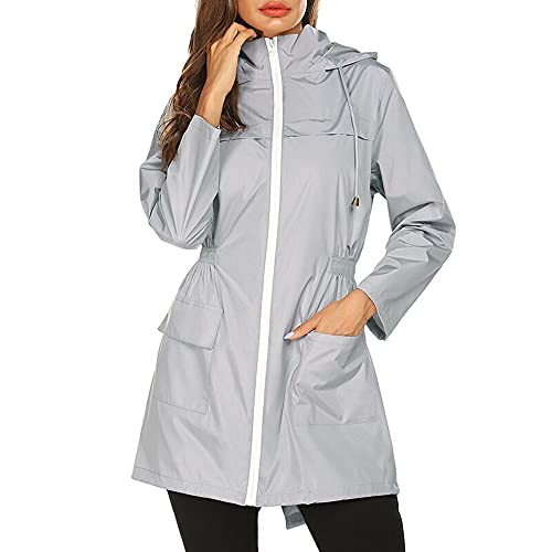 Impermeable de mujer para mujer Chaqueta impermeable con capucha al aire libre