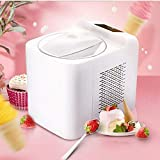 ZJZ Máquina para Hacer Helados en casa 1L, Mini Fruta Completamente automática Helado Suave para Servir Cocina DIY Simple One Push Ideal