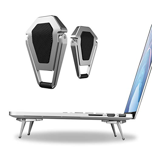 Mini Invisible Laptop Stand Pad-2Pack(4Pcs) SUNTAIHO Aluminum Cooling Computer Keyboard Mount Kickstand,Ergonomic Lightweight Laptop Desk Stand for MacBook Pro/Air, Lenovo,12-17 Inches Tablet&Laptop
