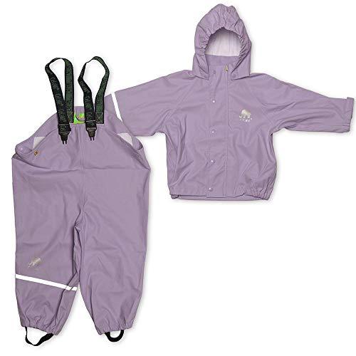 CeLaVi Zweiteiliger Regenanzug in Vielen Farben Veste Imperméable Bébé Fille, Violet (Violett), 95 (Taille Fabricant: 80)