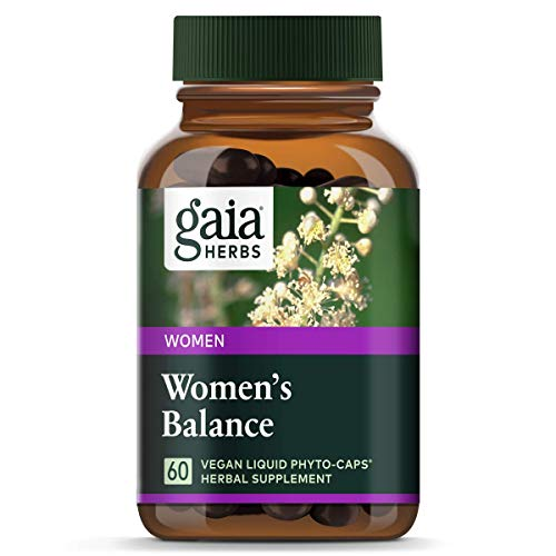 Gaia Herbs Womens Balance, Vegan Liquid Capsules, 60 Count - Hormone Balance for Women, Mood and Liver Support, Black Cohosh, St Johns Wort, Organic Red Clover & Dandelion Root