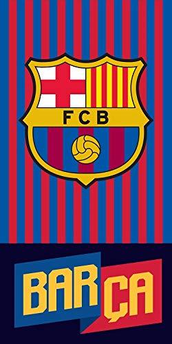 DHestia - F.C. Barcelona Toalla de Baño y Playa de Microfibra Barça 140x70 cm FCB182085