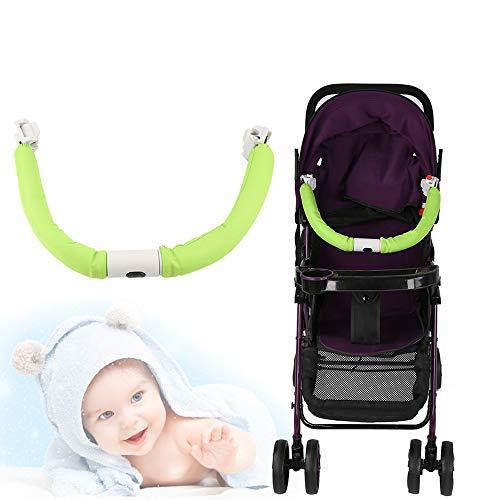 Jadpes Valla de Seguridad extraíble para Carrito de bebé, Cochecito de bebé genérico Ajustable Manillar Manillar Reposabrazos Barra de Parachoques - Cloud Plus Cochecito de Viaje Compacto(Verde)