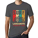 One in the City Hombre Camiseta Vintage T-Shirt Gráfico Surf Summer Time Lanzarote Ratón Gris