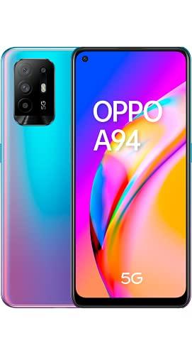 "OPPO A94 5G A94 Smartphone 5G, 173g, Display 6.43"" FHD+ AMOLED, 4 Fotocamere 48MP, RAM 8GB + ROM 128GB Espandibile, Batteria 4310mAh, Ricarica VOOC 30W, Dual Sim, [Versione Italiana], Cosmo Blue"