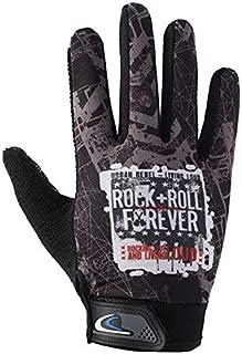 TOOGOO 1 Pair Cycling Gloves Full Finger Shockproof Bike Touchscreen Unisex Hiking Ridding Gloves Orange