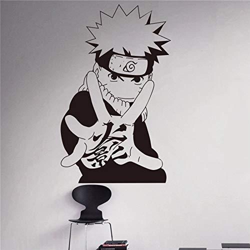 WERWN Naruto Etiqueta de la Pared Japonesa Manga Vinilo calcomanía decoración Interior del hogar