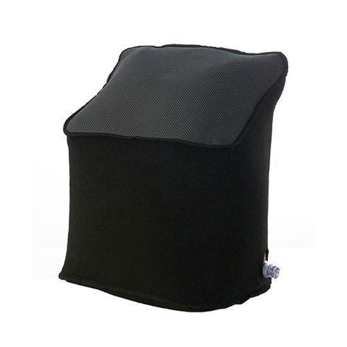 Deluxe Reisekissen - Kopf- und Nackenstütze - Kopfkissen - Kissen - Beinstütze - Luftkissen - Fusskissen - Schlafkissen - aufblasbar - schwarz - 45 x 37 x 28 cm