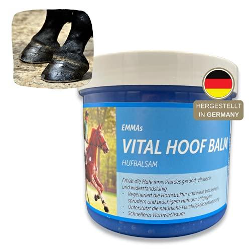 ♥ EMMA ♥ Bálsamo de caballo para cascos cuidado de cascos bálsamo, para cascos de caballos, para cascos quebradizos y secos, 500 ML