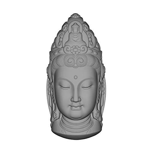 Avalokitesvara Buddha 3D Candle Mould Silicone Molds for Candle Decorating Resin Epoxy Gypsum Concrete Statue Silicone Mold