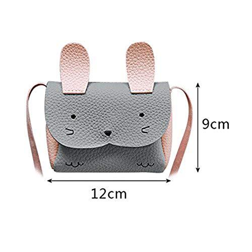 HWUDFSLG Mini Umhängetasche Kinder Umhängetasche Bebe Mädchen Handtasche Niedlichen Kaninchen Schulter Crossbody Tasche