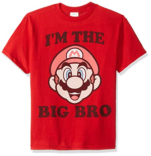 Boys Mario I'm The Big Bro T-shirt, Red, XS to XL