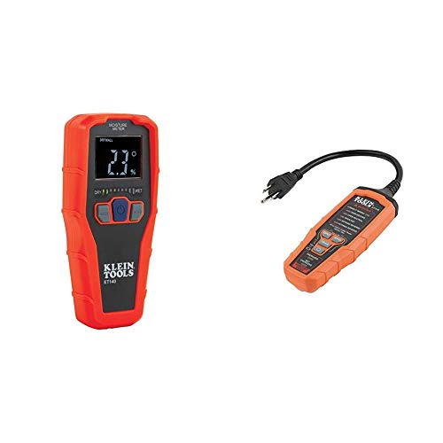 Klein Tools ET140 Pinless Moisture Meter & RT310 AFCI and GFCI Outlet and Device Tester for North American AC Electrical Outlet Receptacles