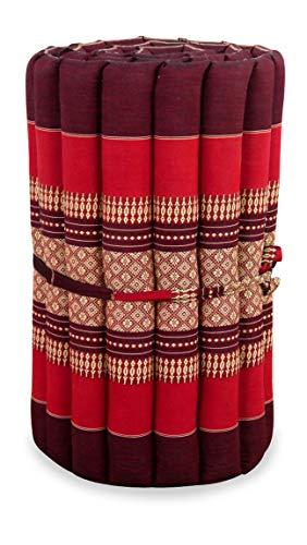 livasia Kapok Rollmatte in 190cm x 50cm x 4,5cm der Marke Liegematte BZW. Yogamatte, Thaikissen, Thaimatte als asiatische Rollmatratze (pink)