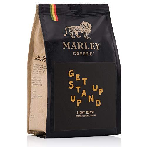 Get Up Stand Up, Light Roast, Licht Gebrande Biologische Gemalen Koffie, Marley Coffee, van de familie van Bob Marley, 227 gr