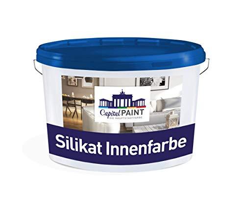 Wandfarbe Silikat Innenfarbe Capital Paint Mineralisch Atmungsaktiv Weiss 10,0 Liter