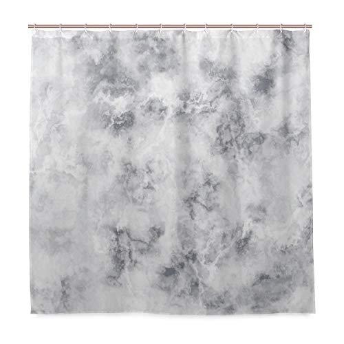 BEITUOLA Duschvorhang,Marmor Granit Oberflächenmuster Stürmische Details Natürliche Mineralbildung Thema Druck Art Dekorativ,Wasserdicht Polyester Textil Stoff Badewannevorhang Shower Curtain