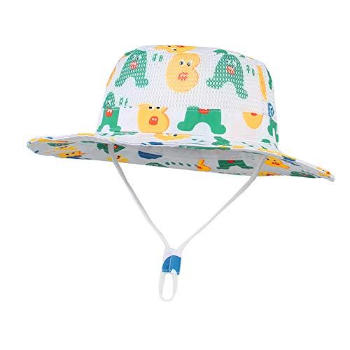 EOZY-Sombrero de Sol Bebé Gorro Verano para Niños Niñas Gorra Playa de ala Ancha UPF 50+ Proteccion Solar Gorro de Pescador para Outdoor