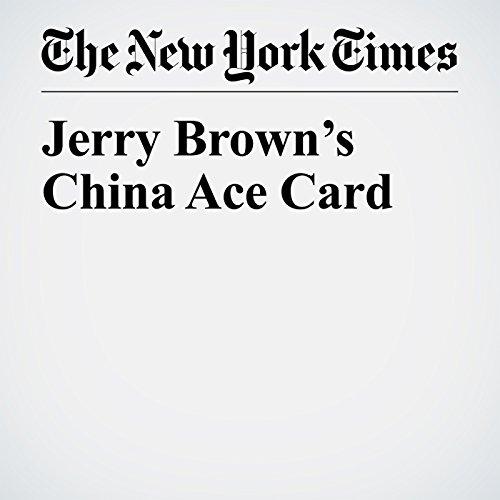 Jerry Brown's China Ace Card copertina